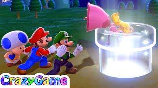 Super Mario 3D World - World 1 Gameplay (All Green Star)