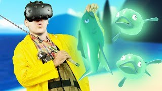 Ghost Fish and Finale! - Crazy Fishing Gameplay - VR HTC Vive