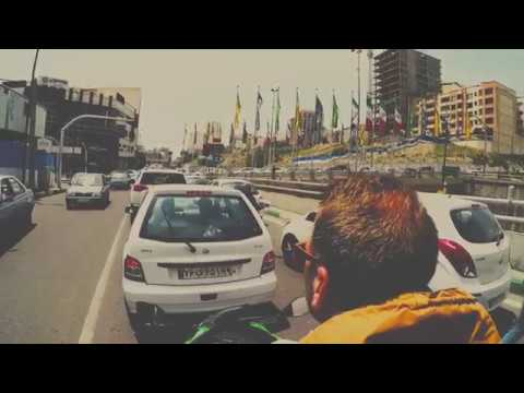 Travel Video • Middle East • Driving motorcycle through Tehran (Iran) • 2017