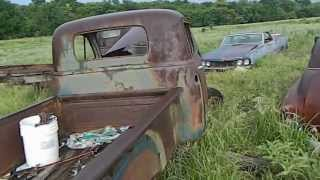 PARTING OUT A 1954 CHEVY CHEVROLET TRUCK PICKUP SELLING PARTS OKLAHOMA