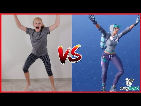 FORTNITE DANCE CHALLENGE with Mom HILARIOUS In Real Life