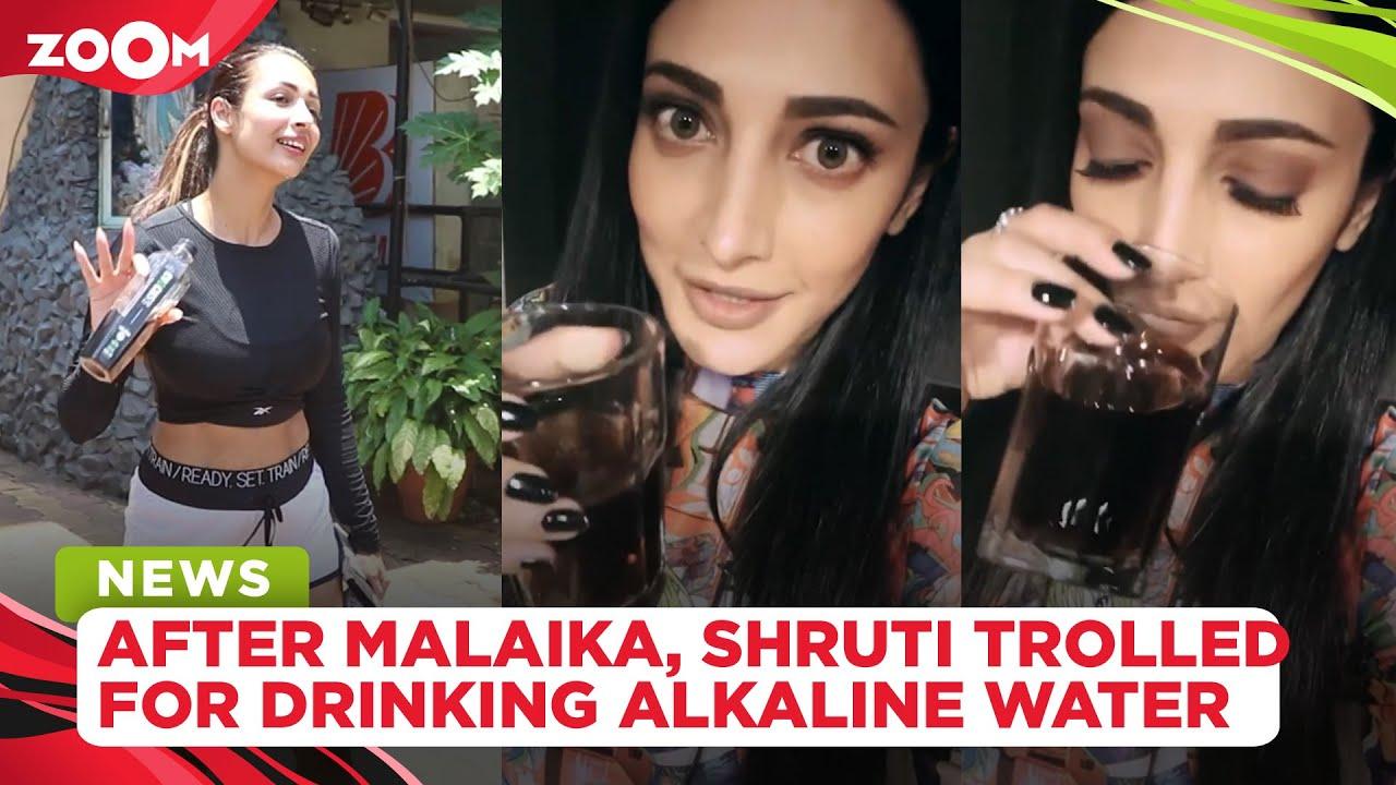After Malaika Arora, Shruti Haasan drinks alkaline water, gets brutally trolled by netizens