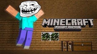 Лучший прикол над другом в Minecraft pe 0.14.0/Лучший механизм+Бонус!