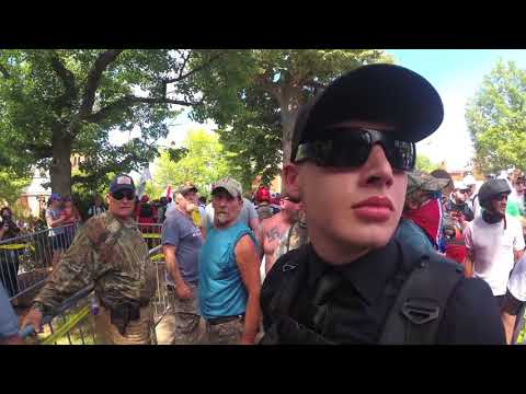 """Behind the scenes footage of """"Unite the right"""" white nationalist rally in Charlottesville VA Part 16"""