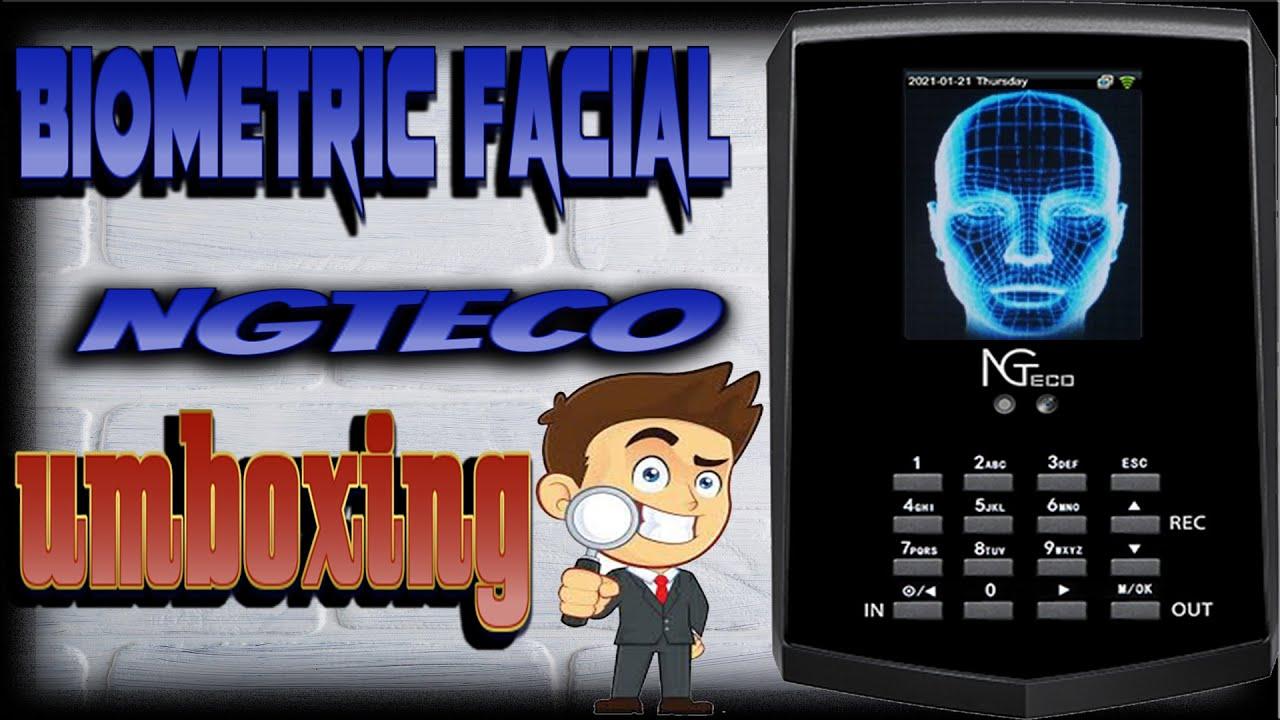 CLOCK TIME BIOMETRIC FACIAL NGTECO { REVIEW AND UMBOXING }