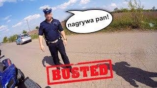 "Policjant pyta mnie ""Co pan sadzi o Yamaha Raptor 700!"" - Busted by the police - EPIC FAIL"