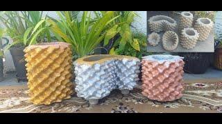 Vasos de Espuma e Cimento Super Lindo