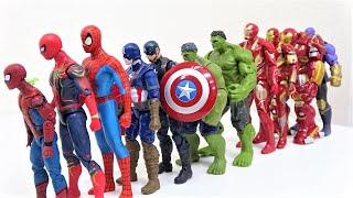 スパイダーマンvsヴェノム、スパイダーモンスター! マーベルアベンジャーズがスーパーヒーローボックス、ハルク、アイアンマンに足を踏み入れる