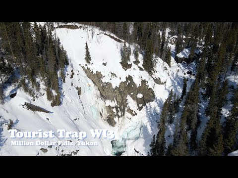 Ice Climb Yukon - Tourist Trap WI3 Million Dollar Falls