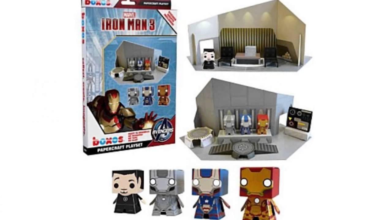 marvel iron man movie 3 paper craft youtube