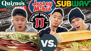 Who Has The Best Sub Sandwich? SUBWAY vs JIMMY JOHN'S vs JERSEY MIKES