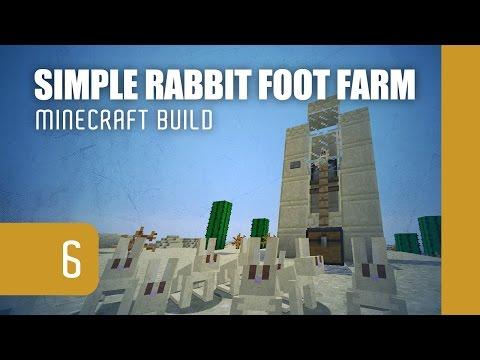 Minecraft Build: Simple Rabbit Foot Farm [1.11] | aka VIDEOS