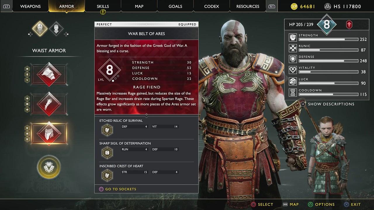 God Of War 4 (God Of War 2018): Ares Armor Set