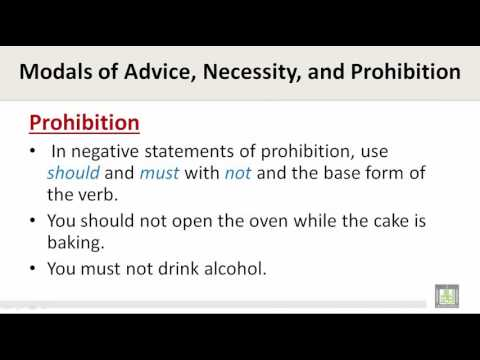 Scientific English | C4-L6 | Modal verbs of advice, necessity and prohibition