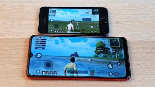IPHONE 5S (1 GB RAM) VS SAMSUNG GALAXY A12 (3 GB RAM) - PUBG TEST