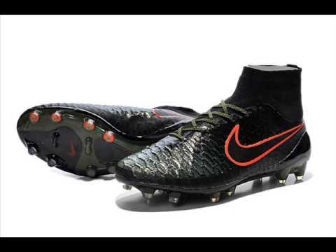 Chaussure De Foot Nike Magista Obra FG ACC Noir Vert Orange Pas Cher