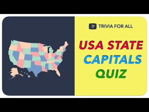 USA 50 States Capital Trivia Quiz