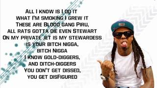 "Lil Wayne - No Worries Ft. Detail (Dedication 4) "" Lyrics "" HQ"