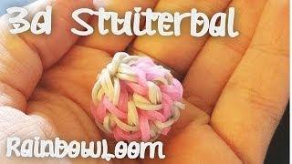 Rainbow Loom 3d Stuiterbal op de Monstertail maken Nederlands