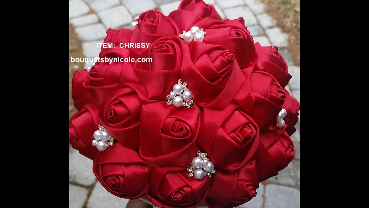 1 Diy How To Make Brooch Bridal Bouquet Fabric Flowers No Wires Easy