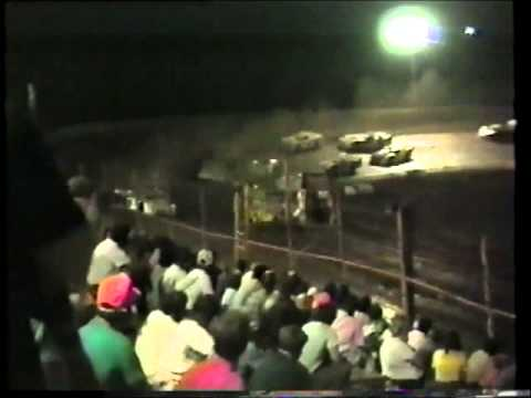 1990 I-77 Speedway Semi-Late Models 6-30-1990 - Porky Shores and Jimmy Cobb fight for lead