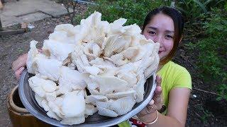 Yummy Crispy Mushroom Cooking - Crispy Mushroom Frying - Cooking With Sros