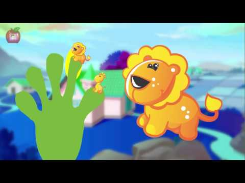 Apple School Friends Fingers family RHYMES for kids to learn with cute giraffe