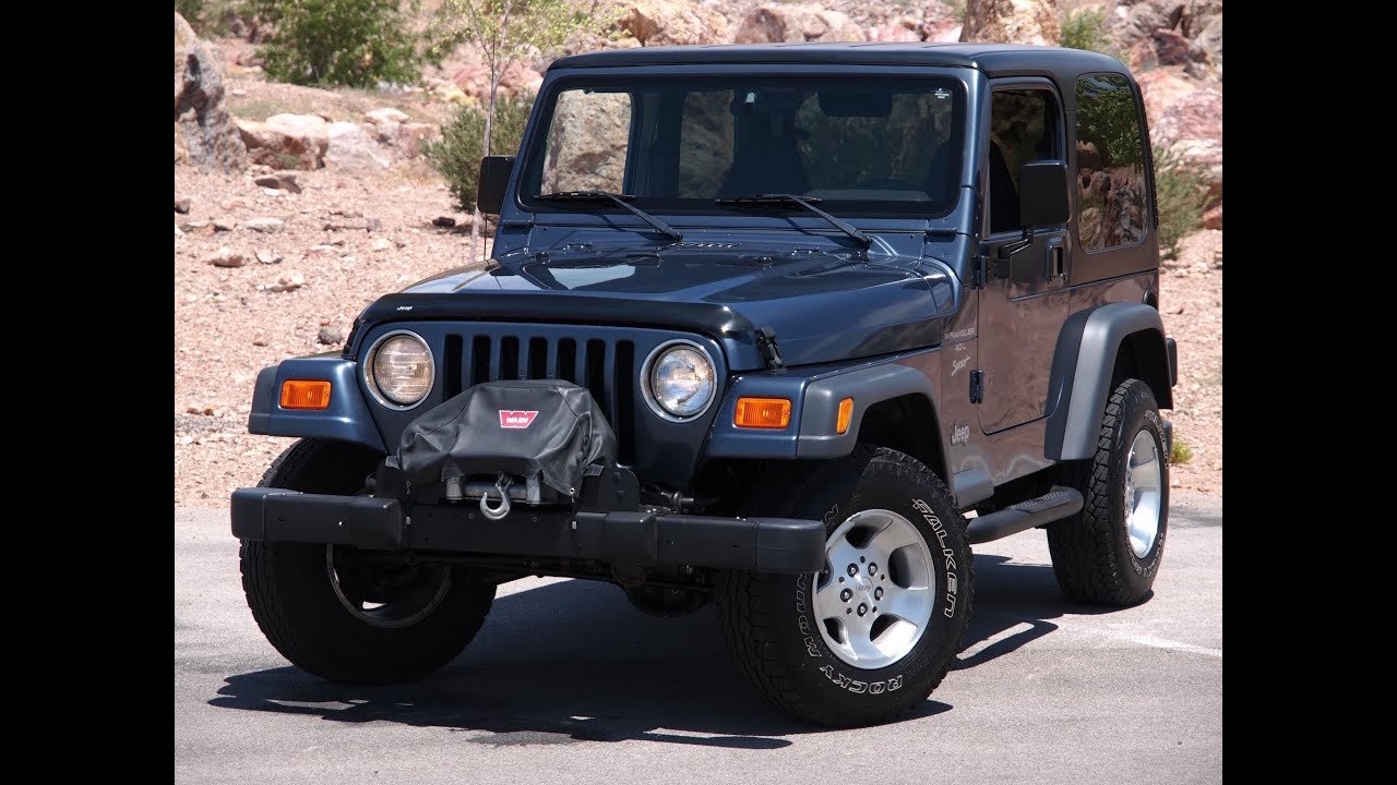 2013 Jeep Wrangler Sport >> 2001 Jeep Wrangler Sport - Test Drive - Viva Las Vegas Autos - YouTube