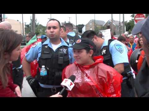 Fast Food Strike, Cicero, IL. Dozens Arrested