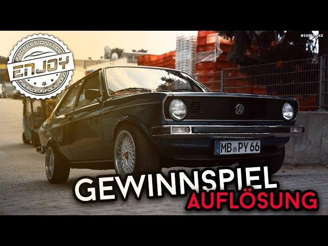 Enjoy Fahrzeugfolierung   Gewinnspiel Auflösung & VW Derby