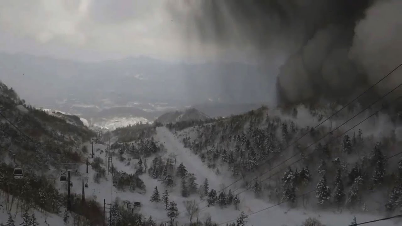 Japanese ski resort hit by avalanche after volcanic eruption