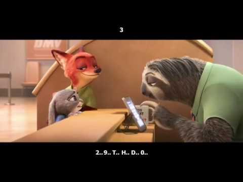 Video Lucu Kukang Sloth Funny With Subtitle Indonesia Zootopia 2016 Youtube