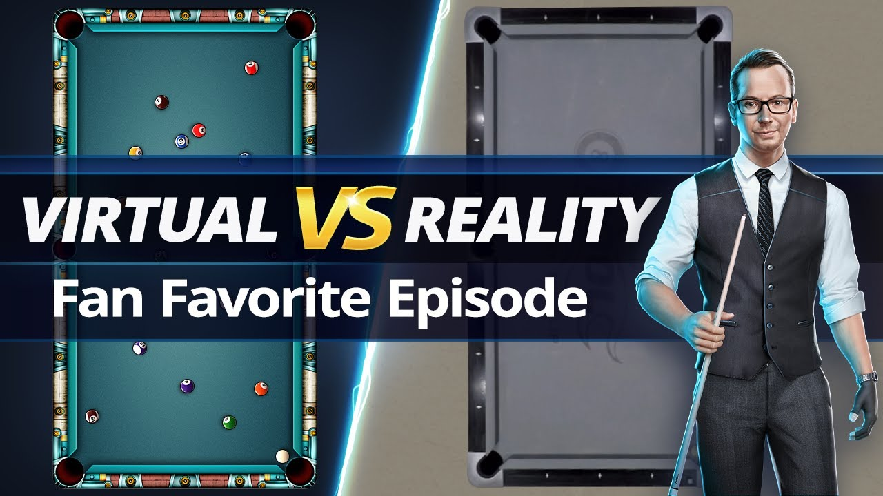 VIRTUAL VS REAL - 8-BALL POOL TRICKSHOTS - Fan Favorite!!!