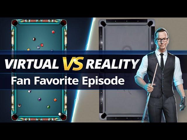 VIRTUAL VS REAL - 8-BALL POOL TRICKSHOTS - Fan Favorite!!!