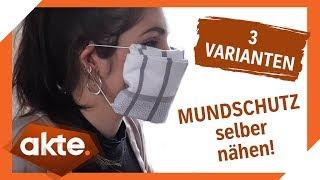 DIY   Mundschutz selber basteln in 3 Varianten!   Akte   SAT.1 TV