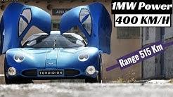 1MW Electric Super Car Concept 416 KMH - Toroidion