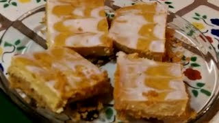 Pumpkin Cheesecake Swirl Bars (vegan)