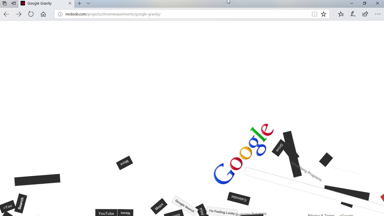 99b05e39152 PLAYING WITH GOOGLE GRAVITY!! - YouTube