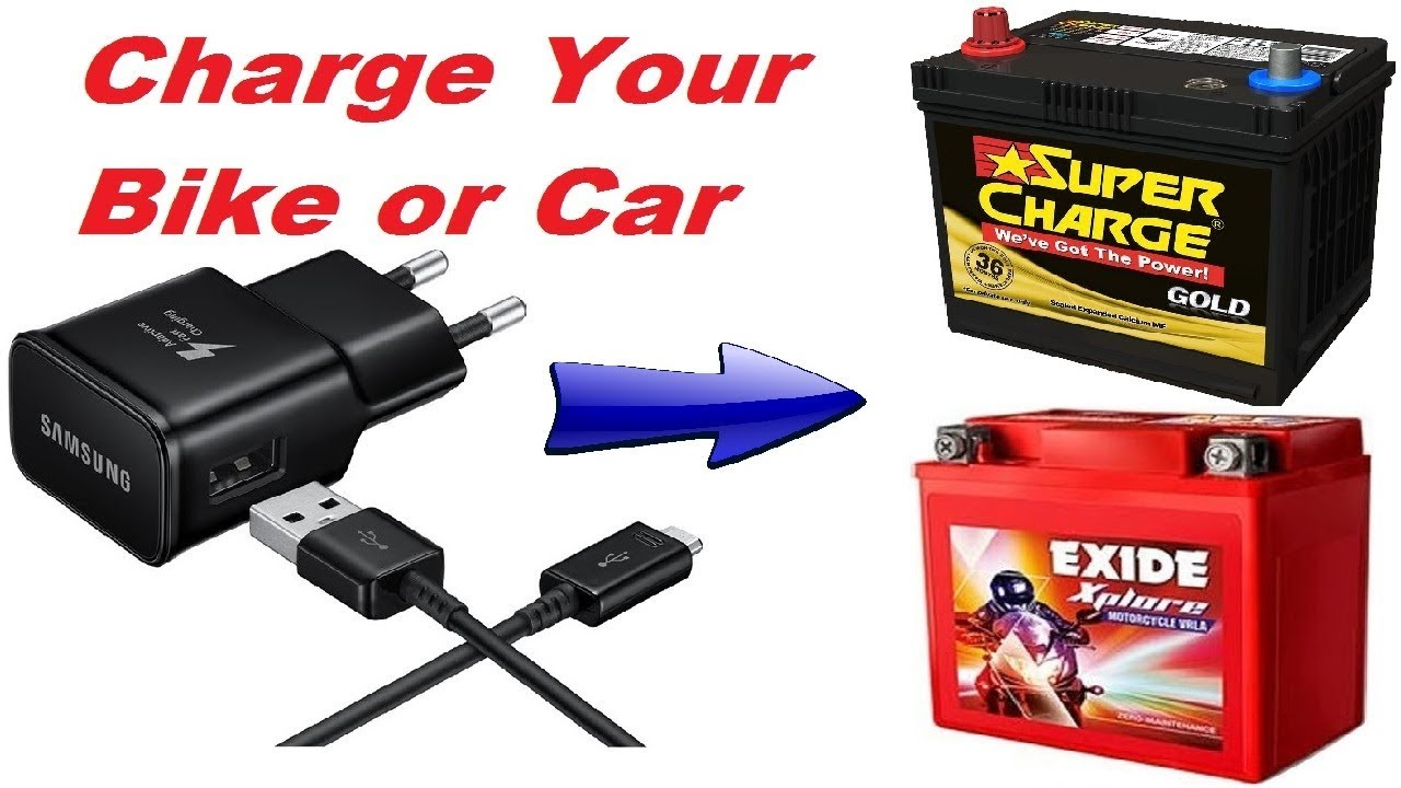 How To Charge A Car Battery Without A Charger >> How To Charge 12volt Bike Car Battery With 5volt Mobile Phone Charger Updated 2019 Shop Online
