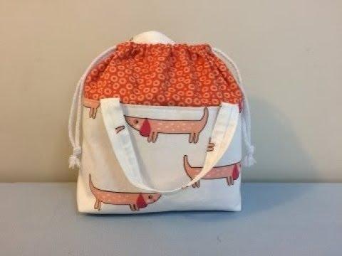DIY KNITTING BAG   PROJECT BAG   DRAWSTRING BAG   TOTE BAG     BAG SEWING TUTORIAL