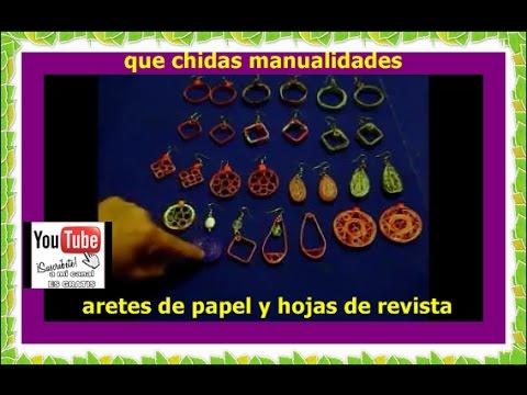 arete atesanal de periodico----handmade earring--2 de 4