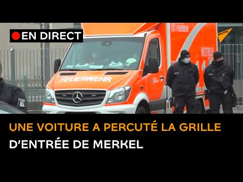 🔴 Une voiture a percuté la grille d'entrée de la chancellerie d'Angela Merkel à Berlin