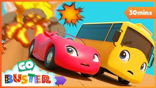Beware of the Erupting Volcano! | Go Buster | Baby Cartoons | Kids Videos | ABCs and 123s