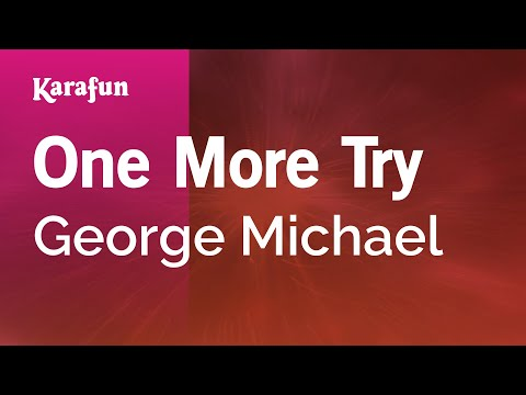 Karaoke One More Try  George Michael *