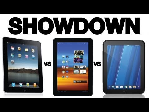 Tablet Showdown: iPad 2 vs Galaxy Tab 10.1 vs HP TouchPad