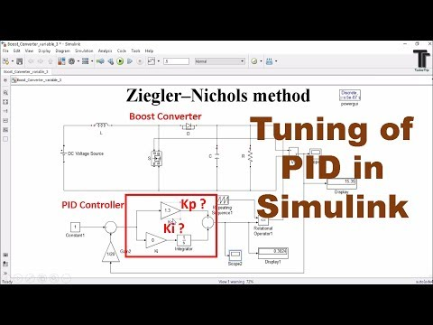PID controller design and tuning MATLAB Simulink - YouTube
