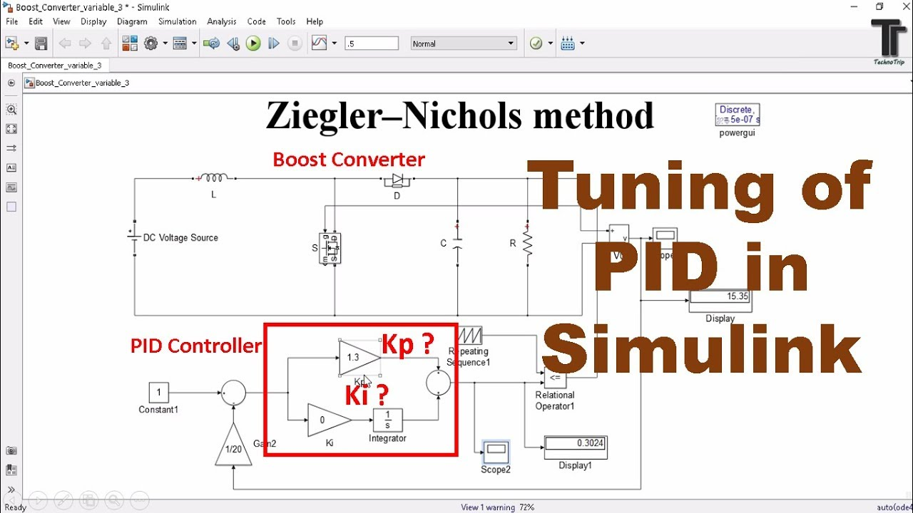 PID controller design and tuning MATLAB Simulink