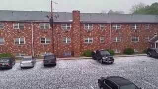 Hail storm 5/22/14 in Reading, Pa.