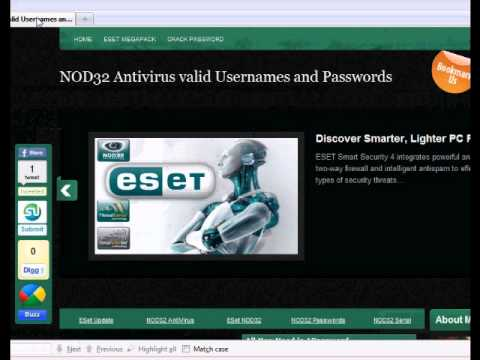Valid Eset Nod32 Username And Password 2014