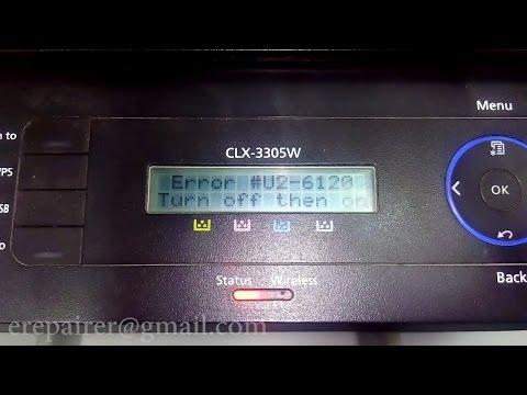 Samsung CLX-3305W - How to repair - #U2-6120 Fuser Error
